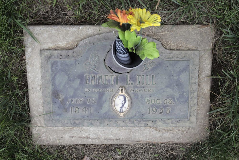 The grave site of lynching victim Emmett Till is seen Friday, July 10, 2009, at the Burr Oak Cemetery in Alsip, Ill. (M. Spencer Green/AP)
