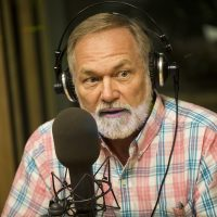 Massachusetts gubernatorial candidate Scott Lively in the WBUR studios. (Jesse Costa/WBUR)