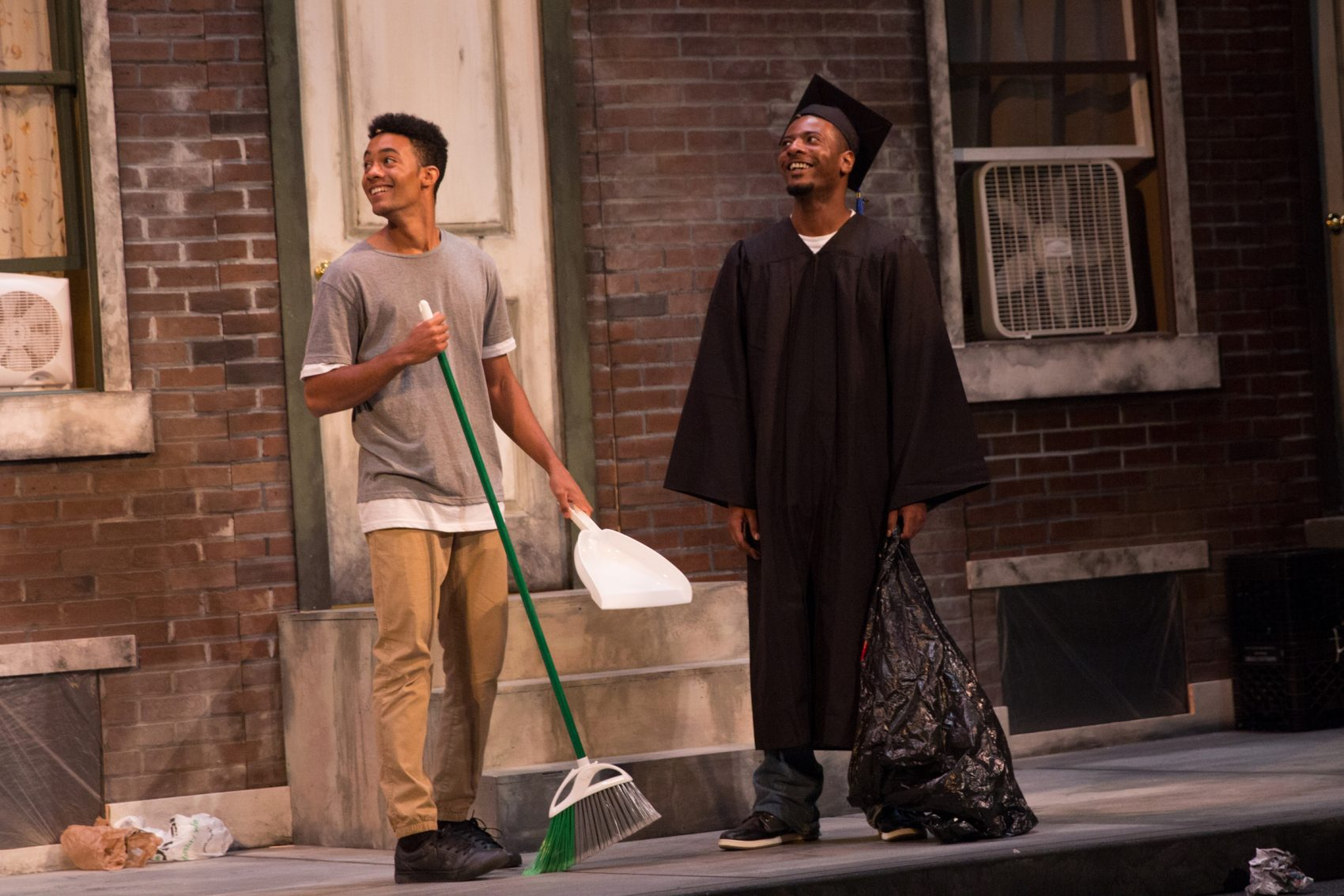 "Christian Scales and Kadahj Bennett in ""Leftovers."" (Courtesy Paul Fox/Company One)"