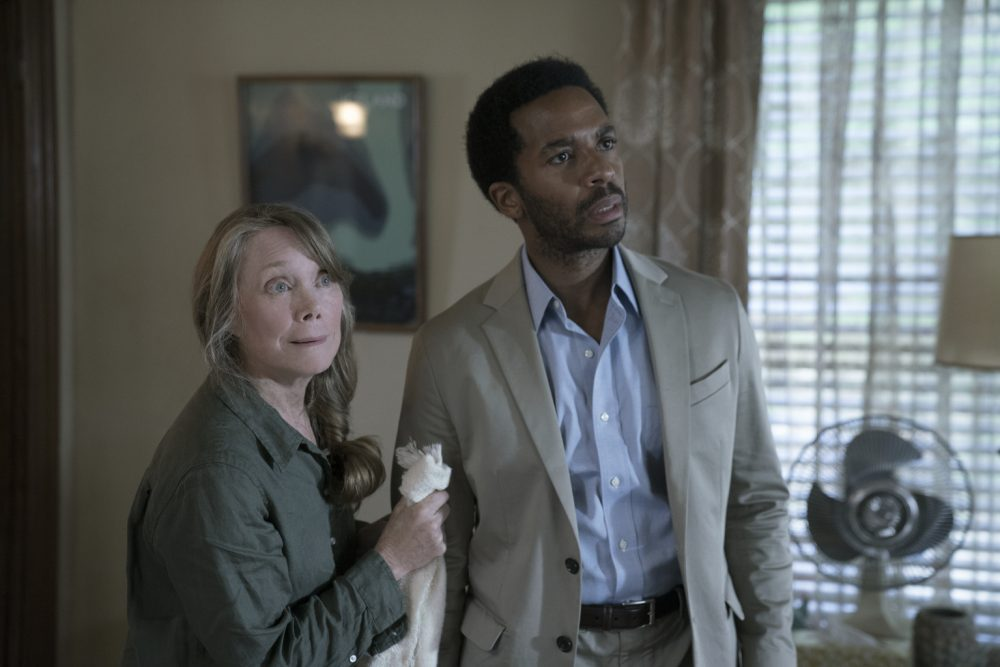 """Ruth Deaver (Sissy Spacek) and Henry Deaver (Andre Holland) in the first episode of """"Castle Rock."""" (Courtesy Patrick Harbron/Hulu)"""