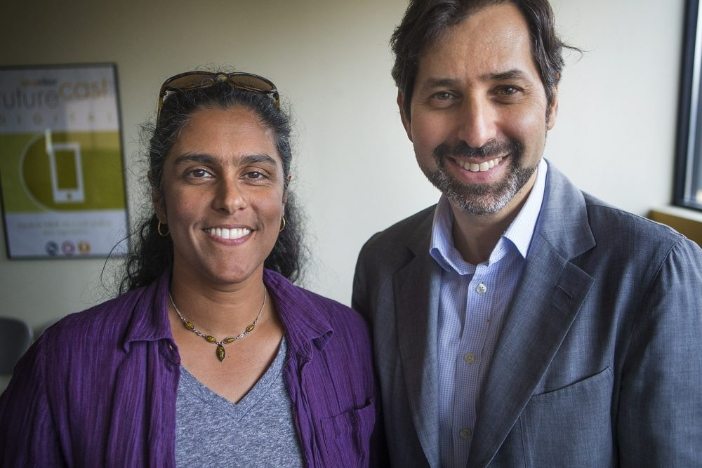 Meghna Chakrabarti and David Folkenflik (Jesse Costa/|WBUR)