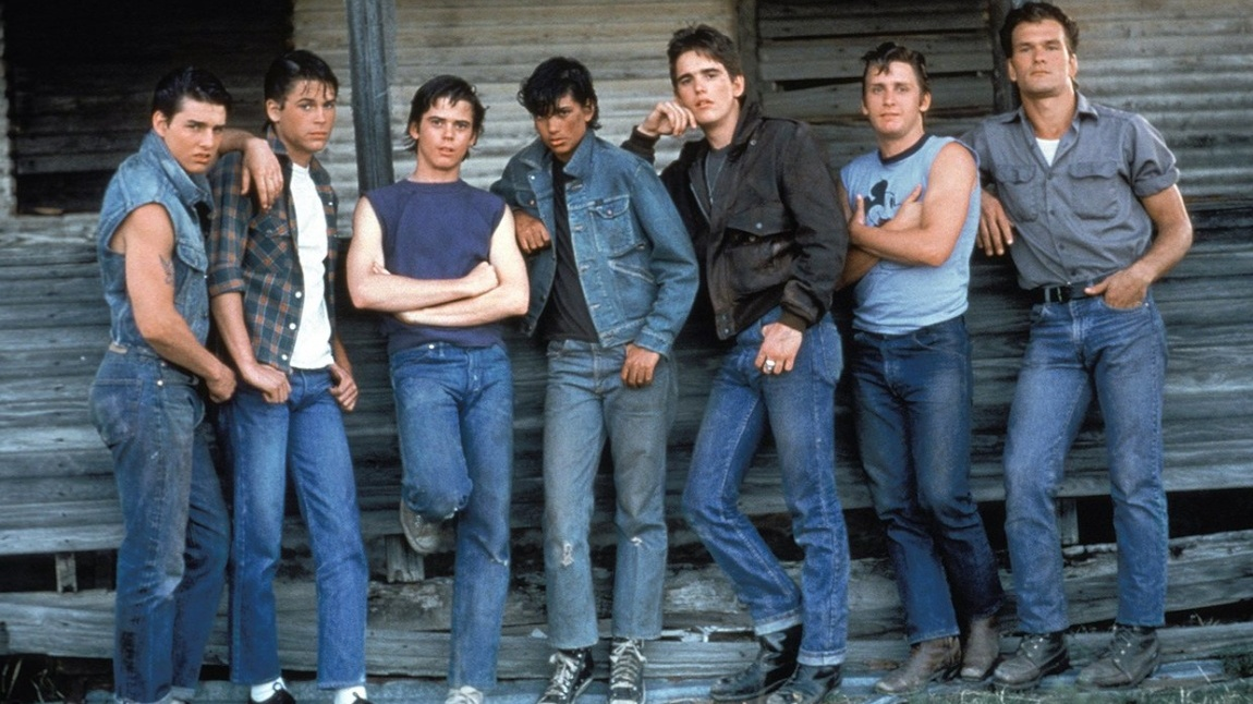 """The cast of """"The Outsiders."""" (Courtesy Warner Bros.)"""