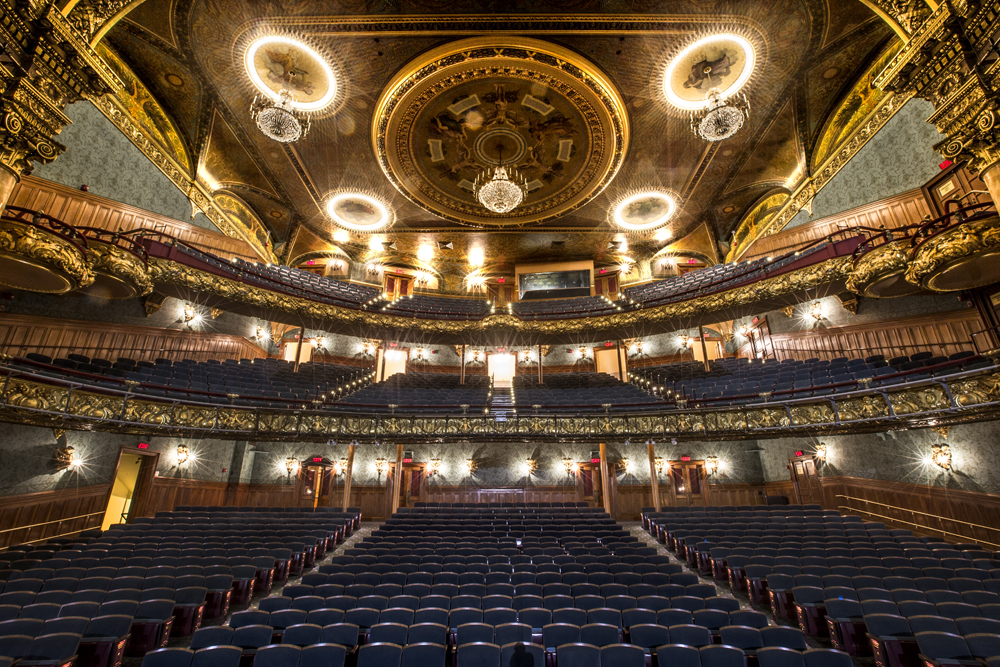 Emerson Colonial Theatre auditorium view from stage (Courtesy of Patrick Farrell)