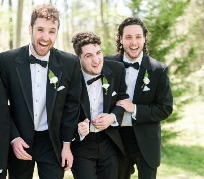 Ian, myself and Morgan horsing around at a friend's wedding. (Courtesy Katie Gallagher Photography)