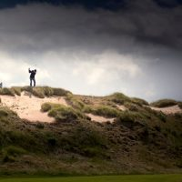 Pitching from the Highland dunes. (Kevin Kirk, Recounter Photography)