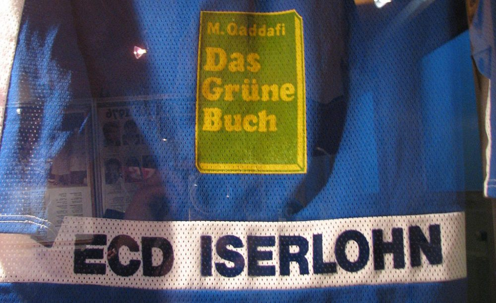 In 1987, ECD Iserlohn was offered a sponsorship deal by Libyan dictator Muammar Gaddafi. But...why? (Roosterfan via Wikimedia Commons)