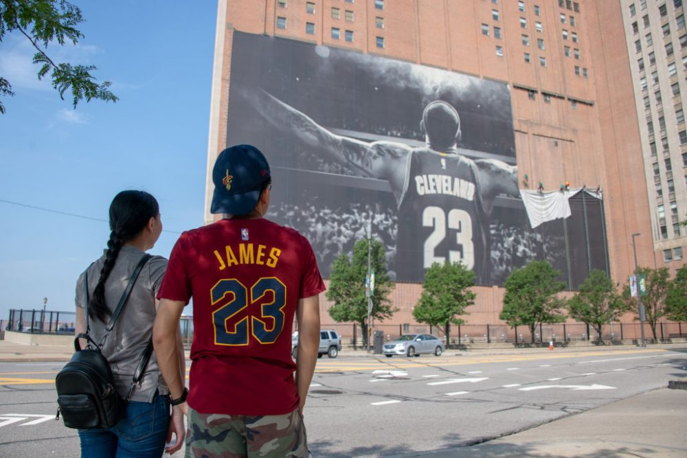 LeBron James, an Akron, Ohio native, played 11 seasons with the Cleveland Cavaliers. (Jason Miller/Getty Images)