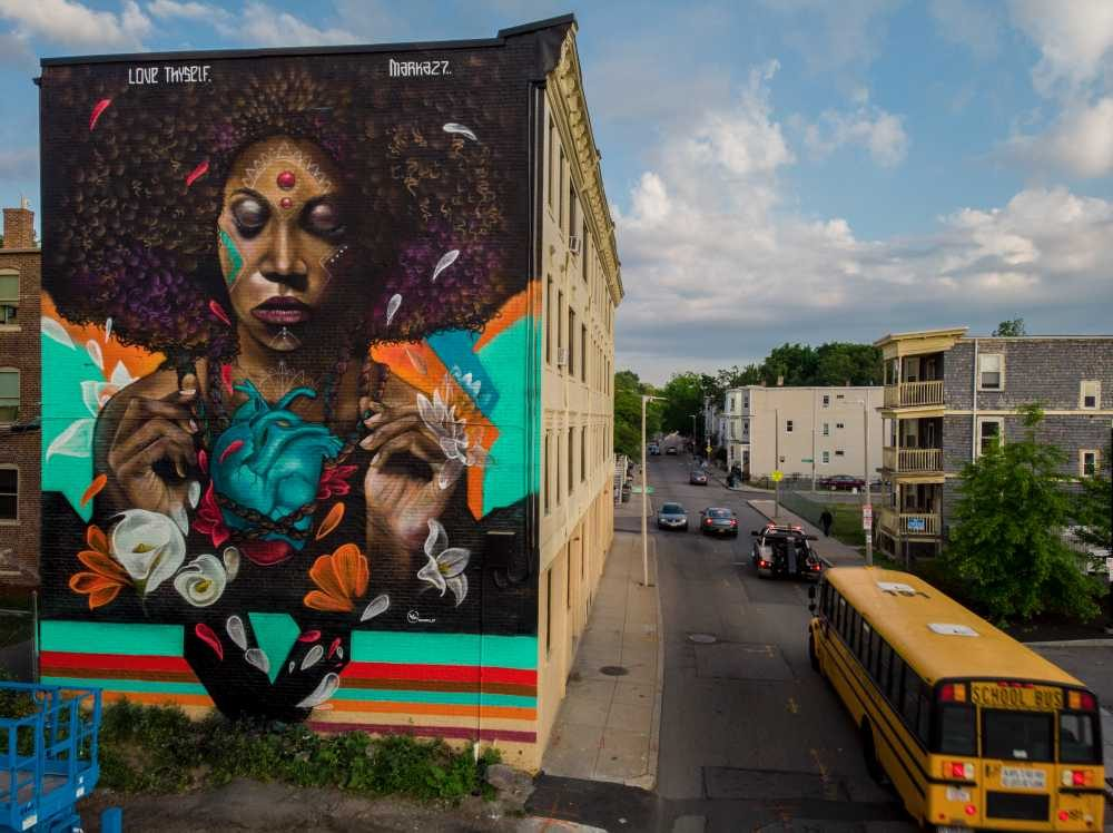 Courtesy Car City >> City-Funded Afrocentric Mural — Once Deemed 'Too Powerful ...