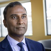 Independent Senate candidate Shiva Ayyadurai (Robin Lubbock/WBUR)