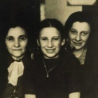 The author's mother, Marisha (Panekiwicz) Rowse, pictured center with her mother and grandmother in 1947 in Krakow, Poland, one year after being reunited. (Courtesy)