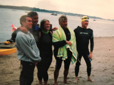 Pat completed the Peaks to Portland swim for the first time in 1998. (Courtesy Pat Gallant-Charette)