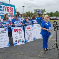 "Massachusetts Nurses Association president Donna Kelly-Williams said large health care groups like Partners HealthCare are ""deceptive."" (Chris Triunfo/SHNS)"
