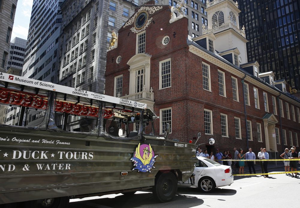 Duckboat Collides With Car In Downtown Boston   WBUR News