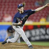 "When he was 17, Milwaukee Brewers pitcher Josh Hader sent out a tweet that said ""I hate gay people."" (Joe Robbins/Getty Images)"