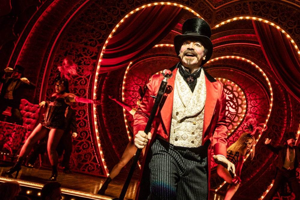 Danny Burstein as Harold Zidler, the operator of the Moulin Rouge nightclub. (Courtesy Matthew Murphy)