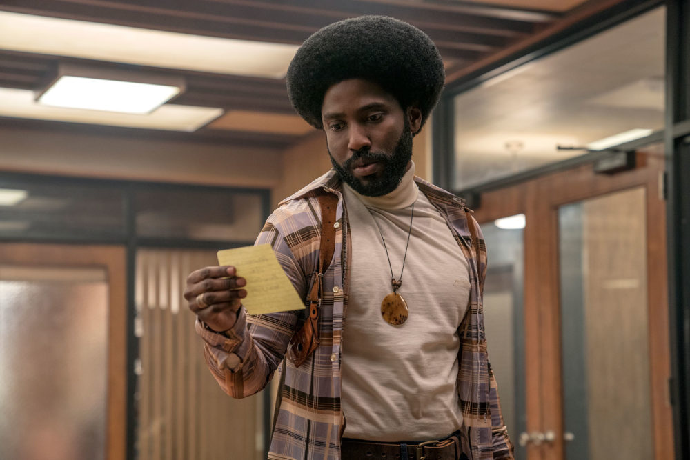 John David Washington as Detective Ron Stallworth. (Courtesy Focus Features)