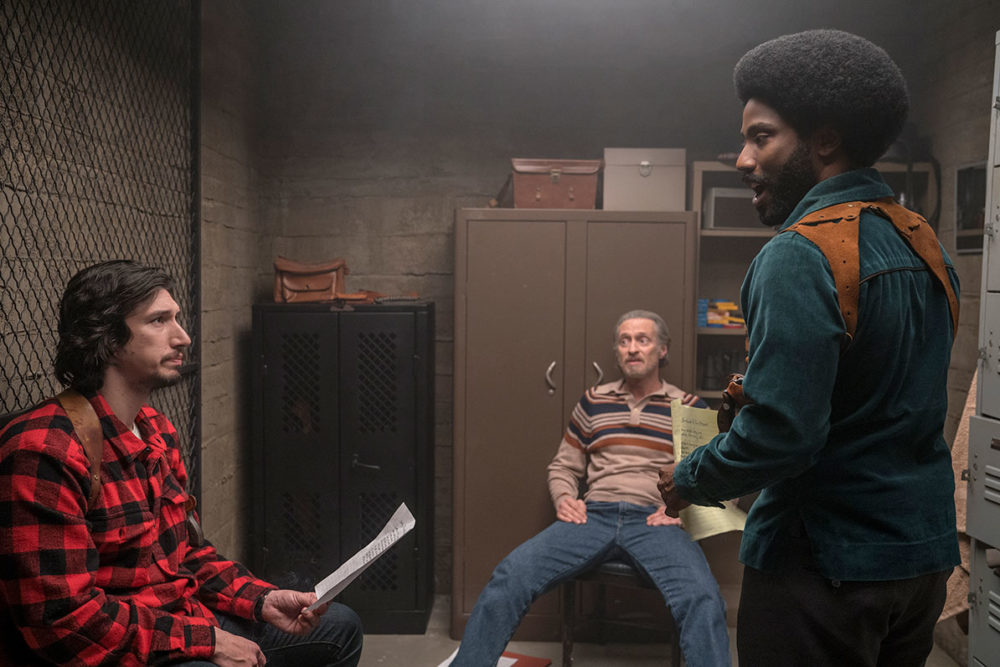 "Adam Driver and John David Washington in ""BlacKkKlansman."" (Courtesy Focus Features)"