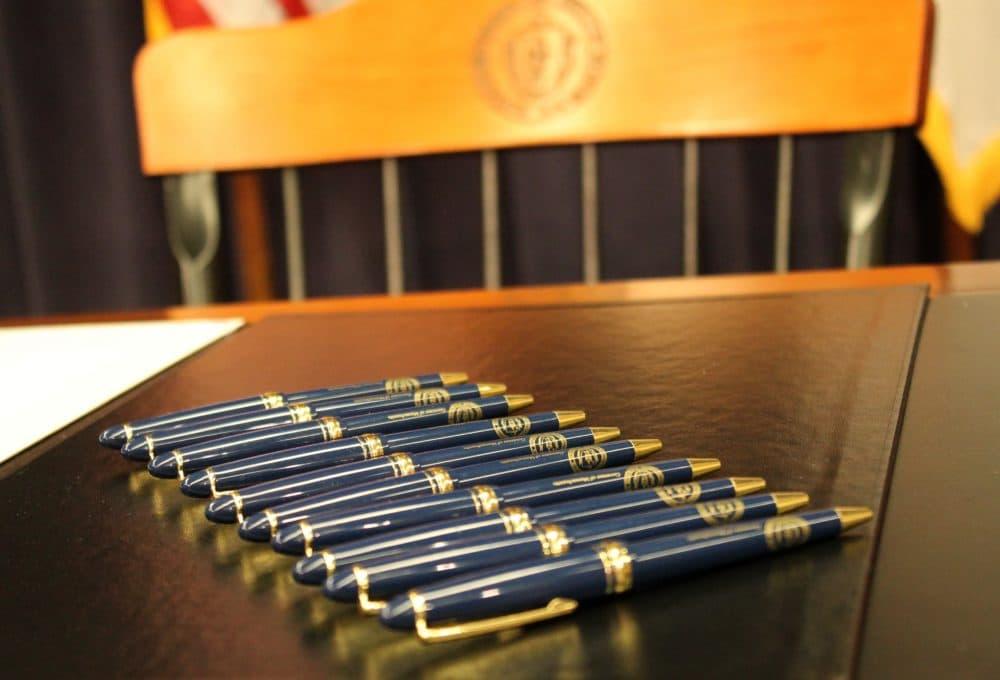 Gov. Charlie Baker signed more than 50 bills Thursday. (State House News Service file photo)
