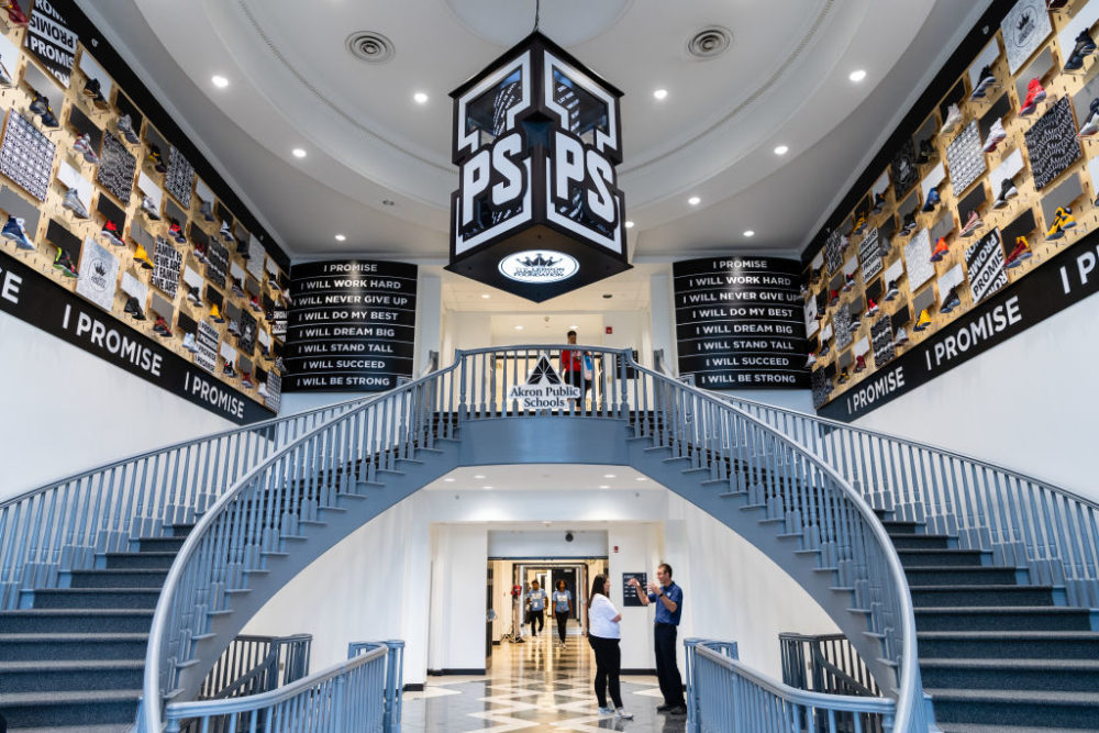 LeBron James recently opened a new public school in Akron, Ohio. (Jason Miller/Getty Images)