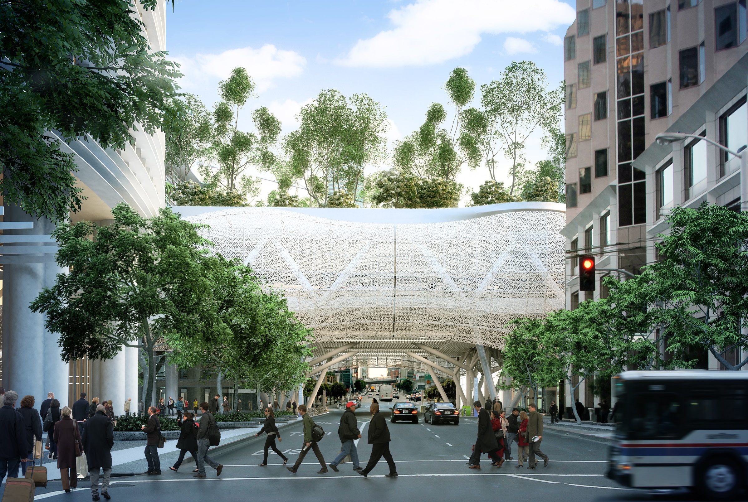 A rendering of the Transbay Transit Center in San Francisco. (Courtesy Transbay Transit Center Project)