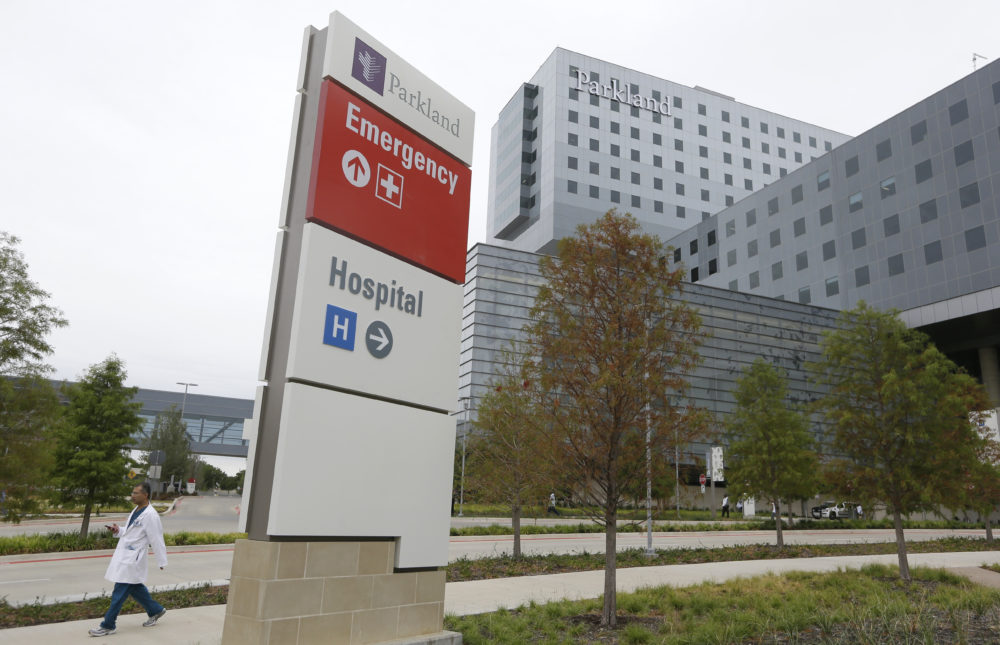 The new Parkland Memorial Hospital building sits ready for business in Dallas, Texas, Thursday, Aug. 20, 2015. (LM Otero/AP)