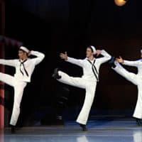 """Boston Ballet dancers in Jerome Robbins' """"Fancy Free."""" (Courtesy Gene Schiavone/Boston Ballet)"""