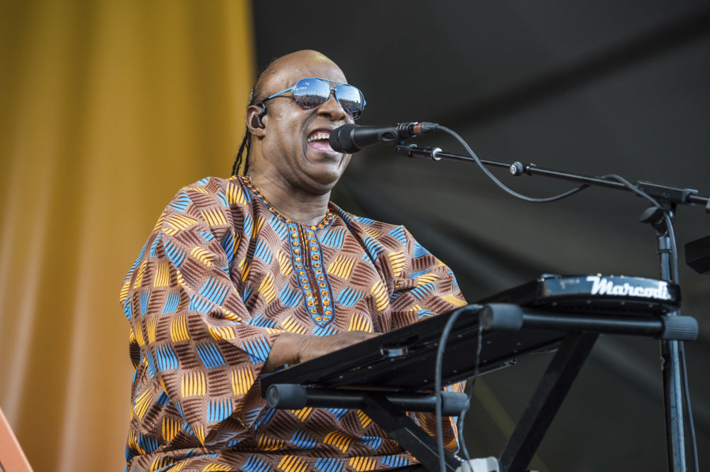 Stevie Wonder performs at the New Orleans Jazz and Heritage Festival in 2017. (Amy Harris/Invision/AP)