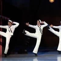 ames Whiteside, Paul Craig and Isaac Akiba in Jerome Robbins' Fancy Free (Courtesy of Gene Schiavone/Boston Ballet)