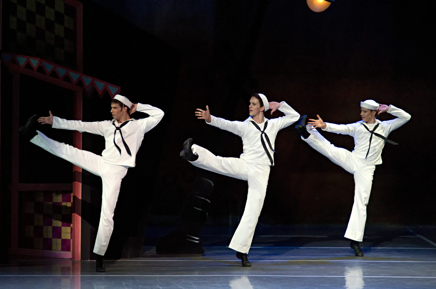 James Whiteside, Paul Craig and Isaac Akiba in Jerome Robbins' Fancy Free (Courtesy of Gene Schiavone/Boston Ballet)