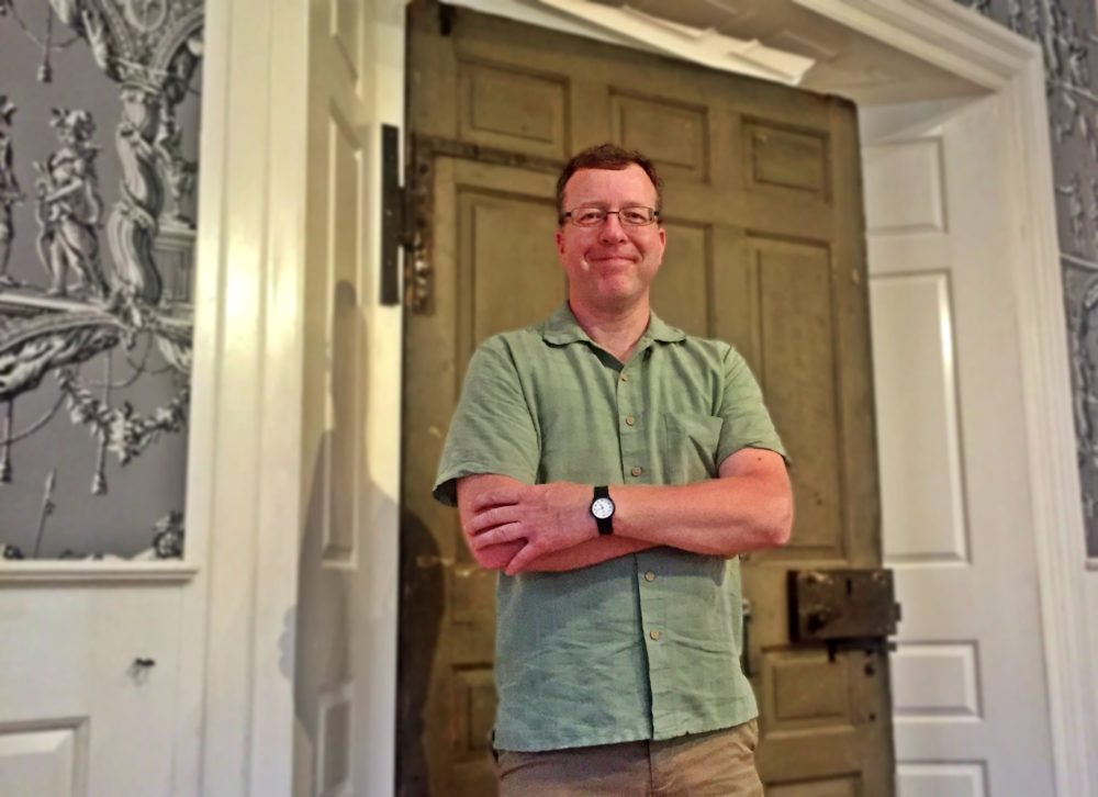 Patrick Gabridge with Hancock Door. (Courtesy: Old State House)