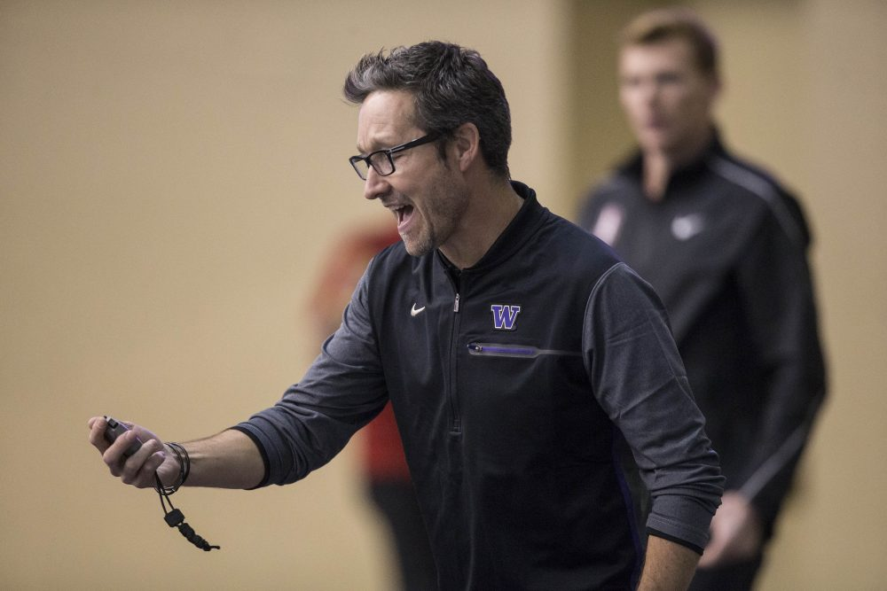 Greg Metcalf coached the UW track and cross country teams for over 15 years. (Courtesy University of Washington)