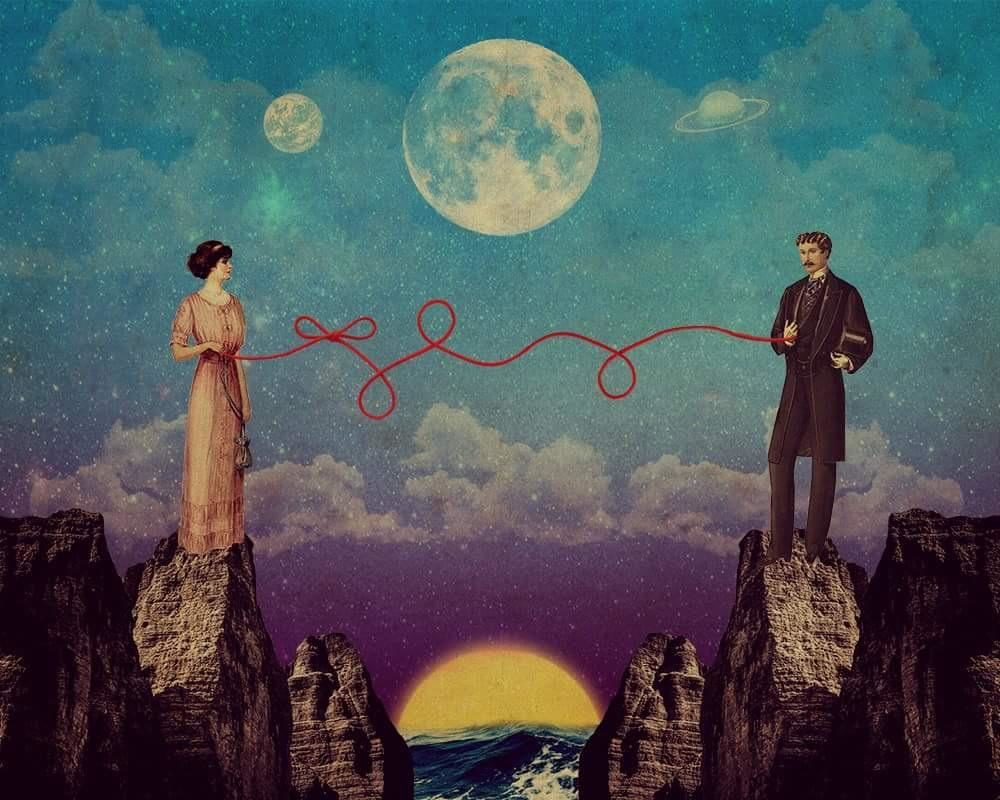"""The Red Thread of Fate,""digital collage, 10x8in. (u/hercoffin)"