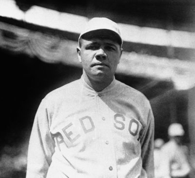 Babe Ruth pitched Game 1 for the Boston Red Sox in the 1918 World Series. (AP)