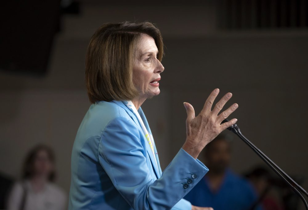 Among likely Democratic primary voters in the 7th district, just one-third of poll respondents said they think the party should again choose Nancy Pelosi as speaker, if Democrats win back the House. (J. Scott Applewhite/AP)