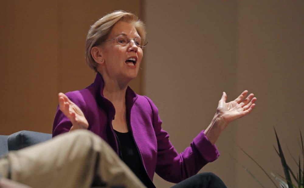 Sen. Elizabeth Warren speaks at Dillard University in New Orleans, Friday, Aug. 3, 2018. (Gerald Herbert/AP)