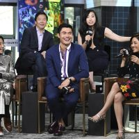 "Actors Michelle Yeoh, left, Ken Jeong, Henry Golding, Awkwafina and Constance Wu participate in the BUILD Speaker Series to discuss the film ""Crazy Rich Asians"" at AOL Studios on Tuesday, Aug. 14, 2018, in New York. (Photo by Evan Agostini/Invision/AP)"