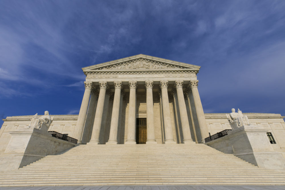The Supreme Court is seen in Washington, Wednesday, Aug. 15, 2018. Senate Majority Leader Mitch McConnell said he hopes to have Supreme Court nominee Brett Kavanaugh confirmed before the new court session begins Oct. 1. (J. Scott Applewhite/AP)