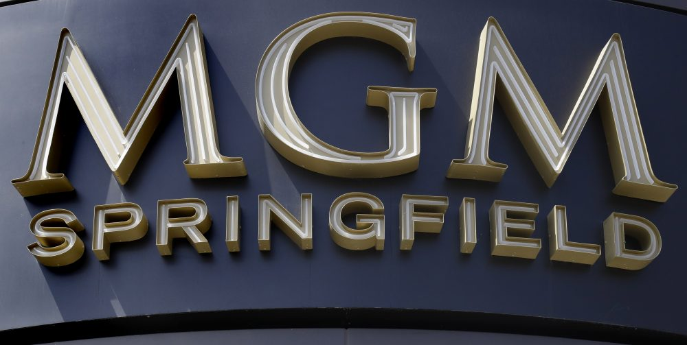 This Wednesday, Aug. 15, 2018, photo shows the MGM Springfield casino's front facade on Main Street. The casino is scheduled to open to the public on Aug. 24. (Charles Krupa/AP)