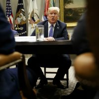 President Donald Trump speaks during a roundtable at the White House, Thursday, Aug. 23, 2018, in Washington. (Evan Vucci/AP)