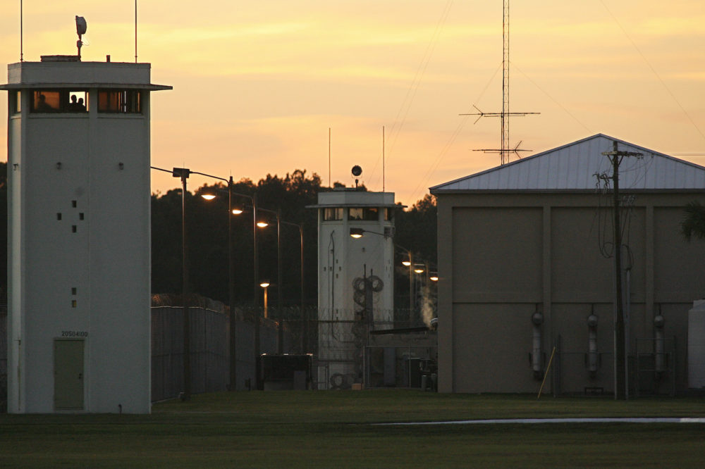 Guard towers at Florida State Prison in Raiford, Fla. Tuesday, Oct. 23, 2012. (Phil Sears/AP)