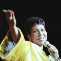 Entertainer Aretha Franklin performs at New York's Radio City Music Hall, July 6, 1989. (Mario Suriani/AP)