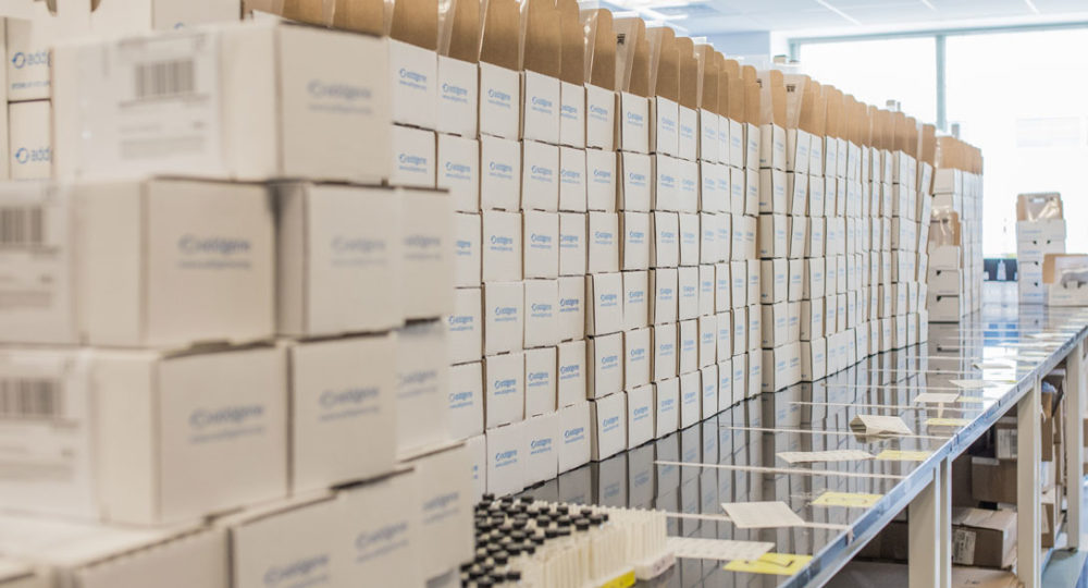 Addgene packages of plasmids ready to ship to scientists around the world. (Courtesy)