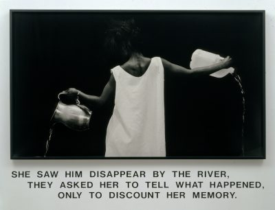 "Lorna Simpson's ""Waterbearer,"" created in 1986. (Courtesy of the artist)"