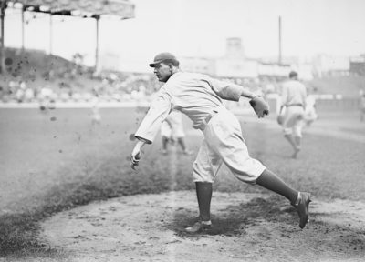Chicago Cubs ace Hippo Vaughn took the mound in Game 1 of the 1918 World Series. (Wikimedia Commons)