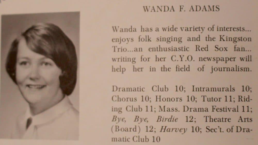 Wanda's high school yearbook page. (Courtesy Wanda Fischer)