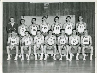 The 1949-50 St. Lawrence University men's basketball team. (St. Lawrence University Archives)