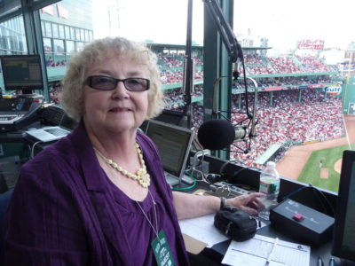 Wanda auditioned as the Red Sox public address announcer in 2012. (Courtesy Wanda Fischer)