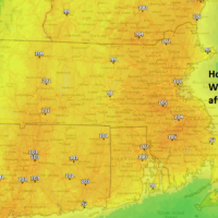 It's going to feel very uncomfortable on Wednesday with high heat and humidity. (Dave Epstein/NOAA Data)