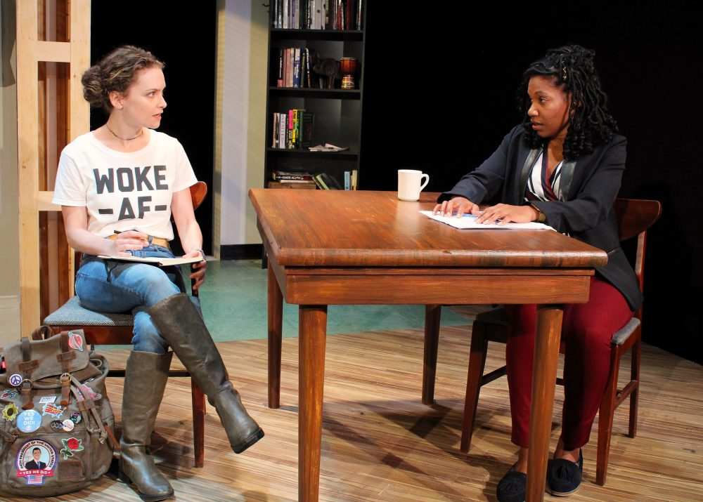"Cathryn Wake and Myxolydia Tyler in ""Well Intentioned White People"" at Barrington Stage Company. (Courtesy Jennifer Graessle)"