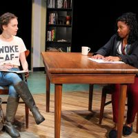 """Cathryn Wake and Myxolydia Tyler in """"Well Intentioned White People"""" at Barrington Stage Company. (Courtesy Jennifer Graessle)"""